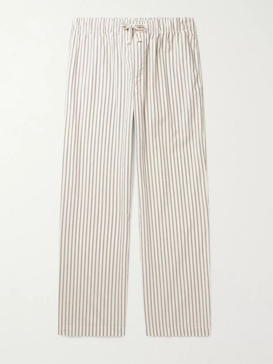 TEKLA Striped Organic Cotton-Poplin Pyjama Trousers