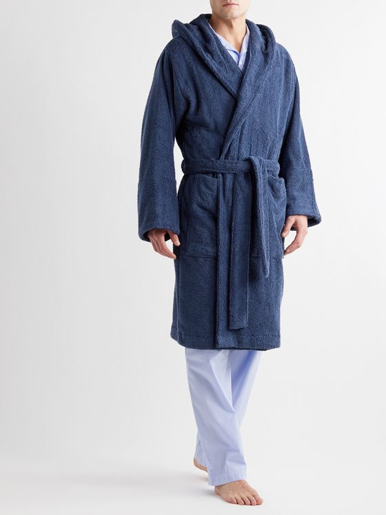 TEKLA Organic Cotton-Terry Hooded Robe