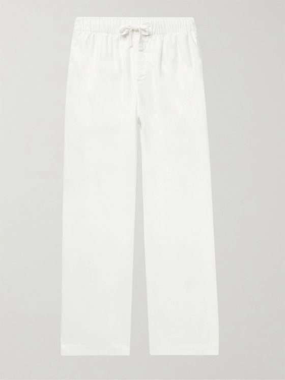 TEKLA Organic Cotton-Flannel Pyjama Trousers