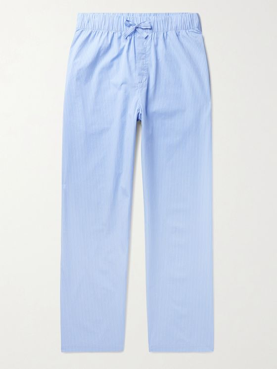 TEKLA Organic Cotton-Poplin Pyjama Trousers