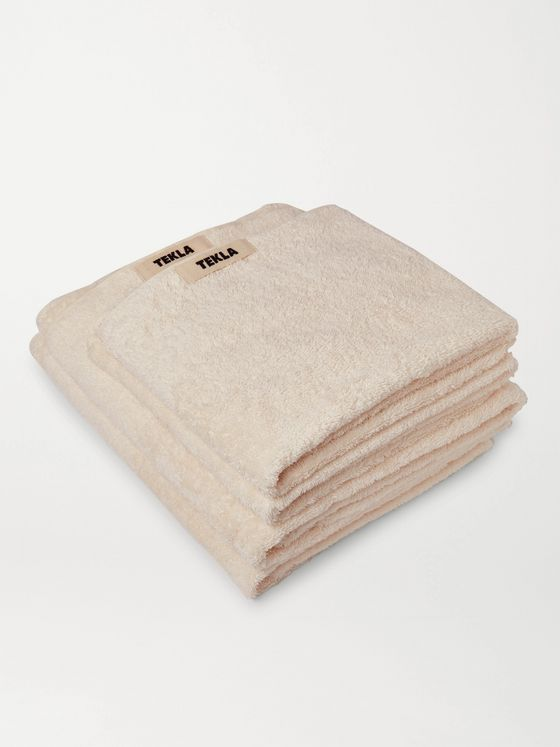 TEKLA Set of Four Organic Cotton-Terry Towels