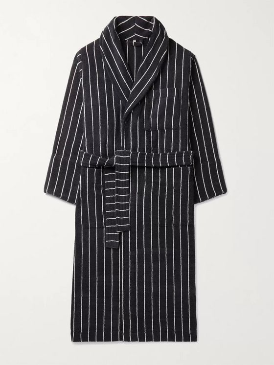 TEKLA Striped Organic Cotton-Terry Robe
