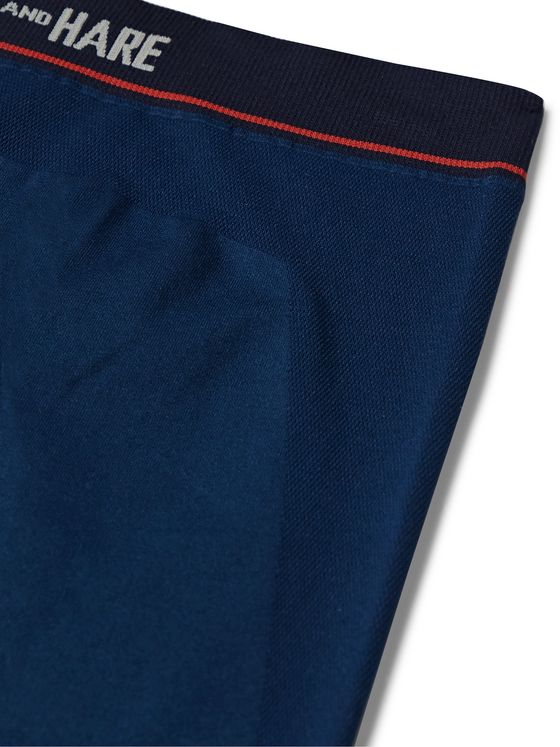 HAMILTON AND HARE Sports Stretch-Jersey Trunks