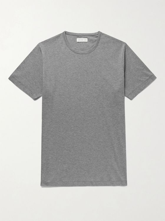Hamilton and Hare Relax Mélange Cotton-Jersey T-Shirt