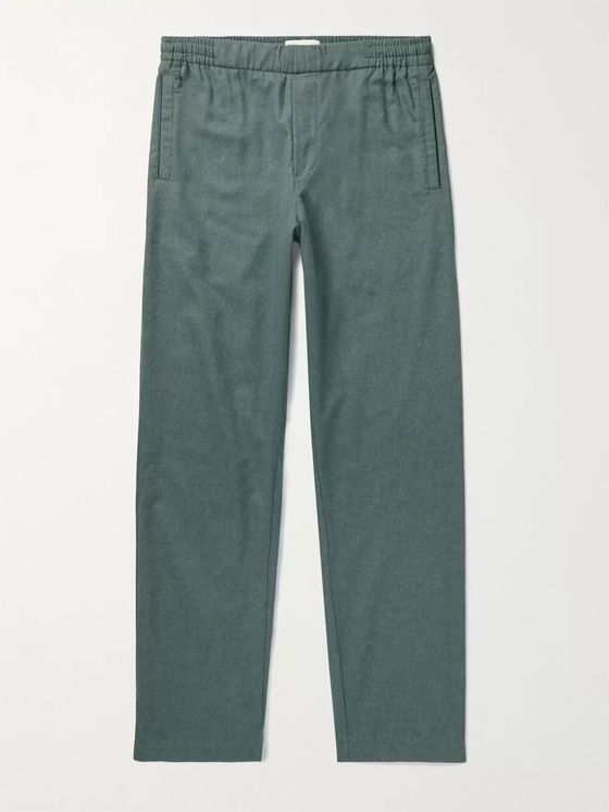 HAMILTON AND HARE Cotton-Flannel Pyjama Trousers