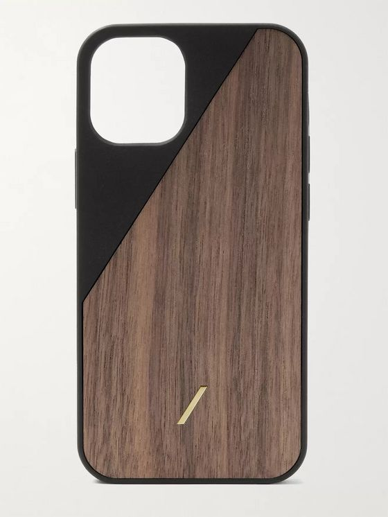 NATIVE UNION Clic Wooden TPU-Trimmed Walnut iPhone 12 Mini Case