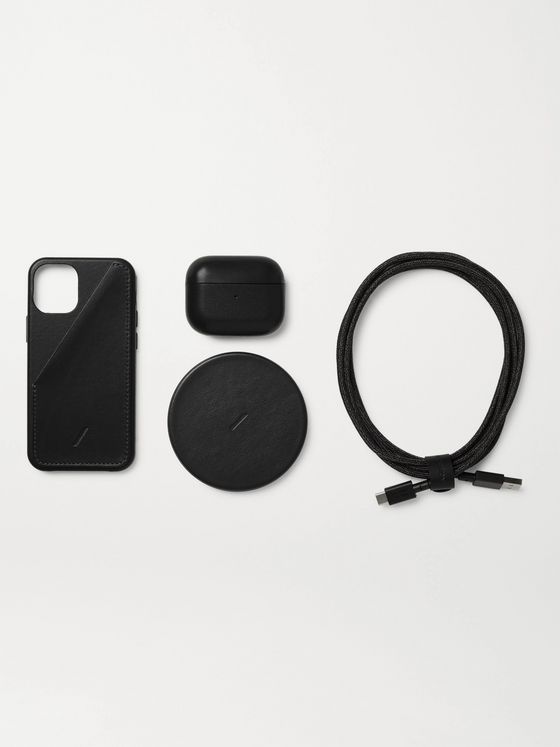 NATIVE UNION Leather iPhone 12 Mini Accessories Bundle