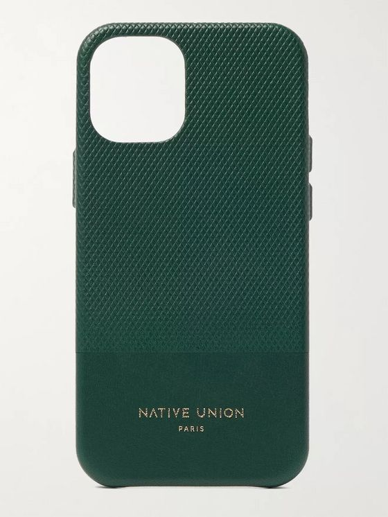 NATIVE UNION Clic Heritage Textured-Leather iPhone 12 Mini Case