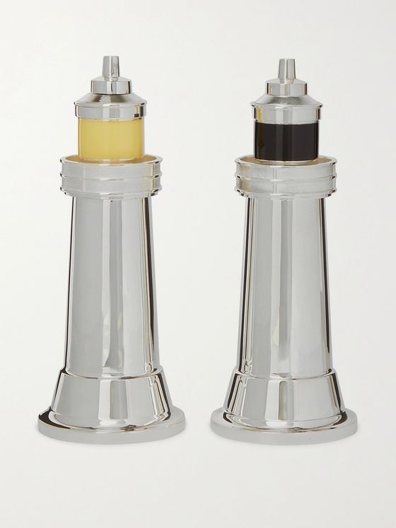 Asprey Sterling Silver Salt and Pepper Mills