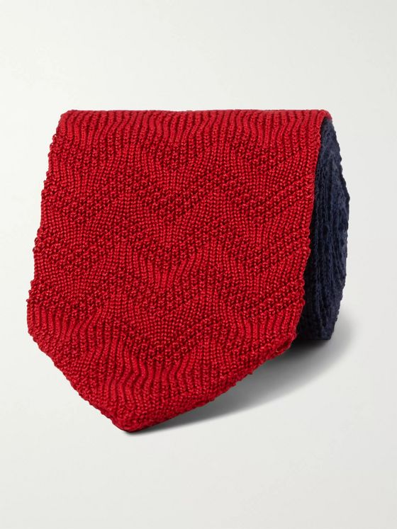 Missoni 6.5cm Colour-Block Crochet-Knit Cotton and Silk-Blend Tie