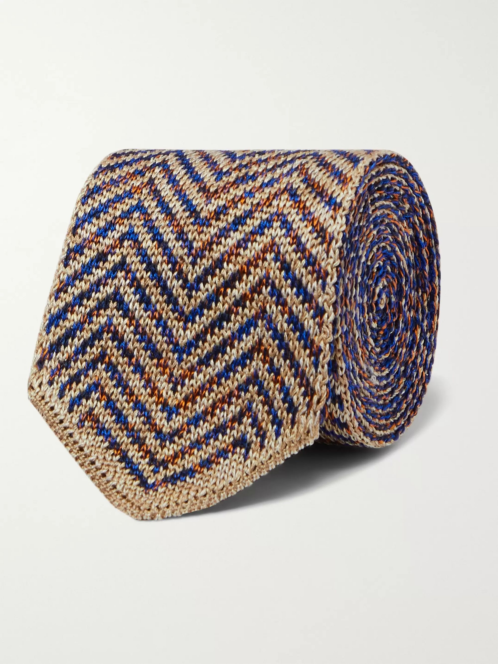 Missoni 6.5cm Crochet-Knit Cotton and Silk-Blend Tie