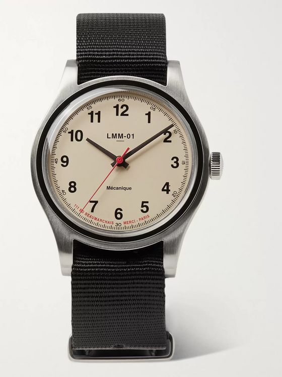 Merci LMM-01 Originals Hand-Wound 37.5mm Stainless Steel and NATO Webbing Watch