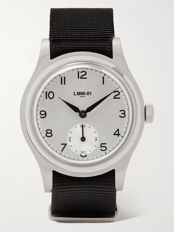 Merci LMM-01 Grand Pa' 38mm Stainless Steel and NATO Webbing Watch