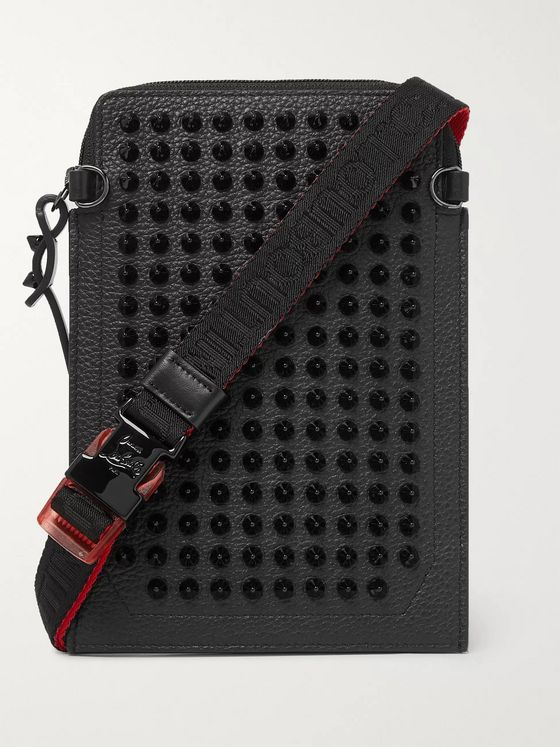 Christian Louboutin Studded Leather Messenger Bag