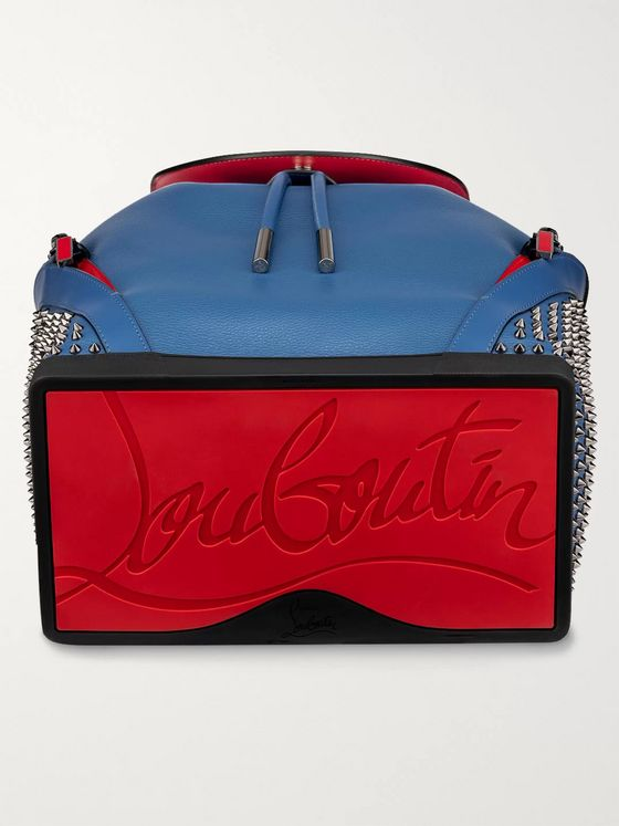 Christian Louboutin Explorafunk Spiked Full-Grain Leather Backpack