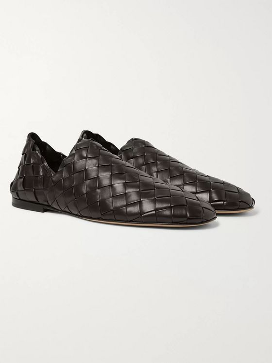 Bottega Veneta Intrecciato Leather Slippers