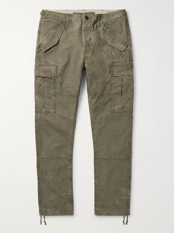POLO RALPH LAUREN Slim-Fit Cotton-Ripstop Cargo Trousers