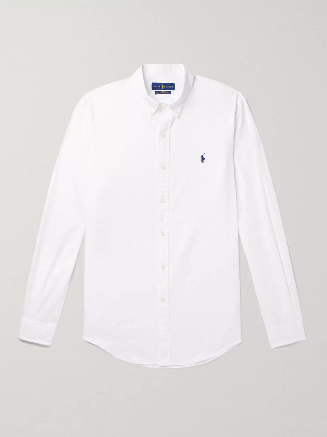 Polo Ralph Lauren Men's Big And Tall Classic Fit Garment-dyed Long-sleeve Oxford Shirt In White