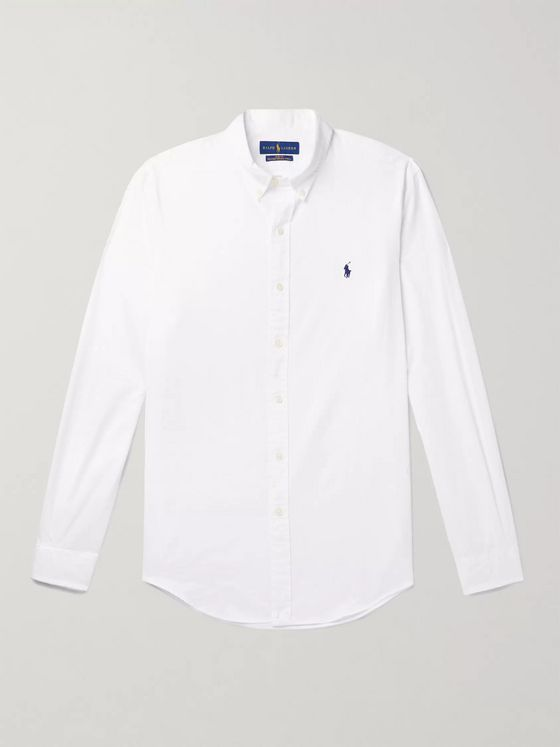 POLO RALPH LAUREN Button-Down Collar Garment-Dyed Cotton-Twill Shirt