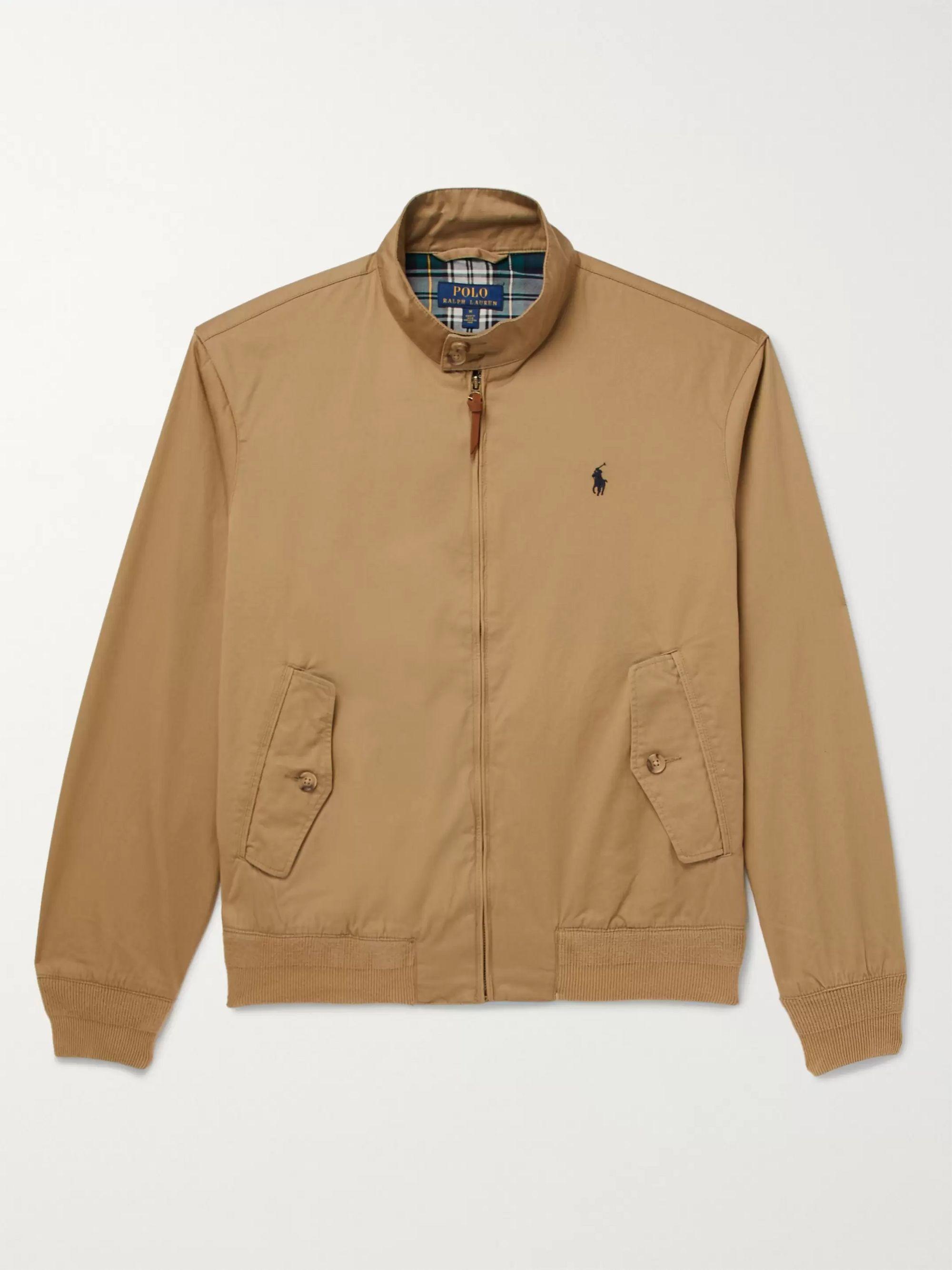 Cotton Twill Harrington Jacket