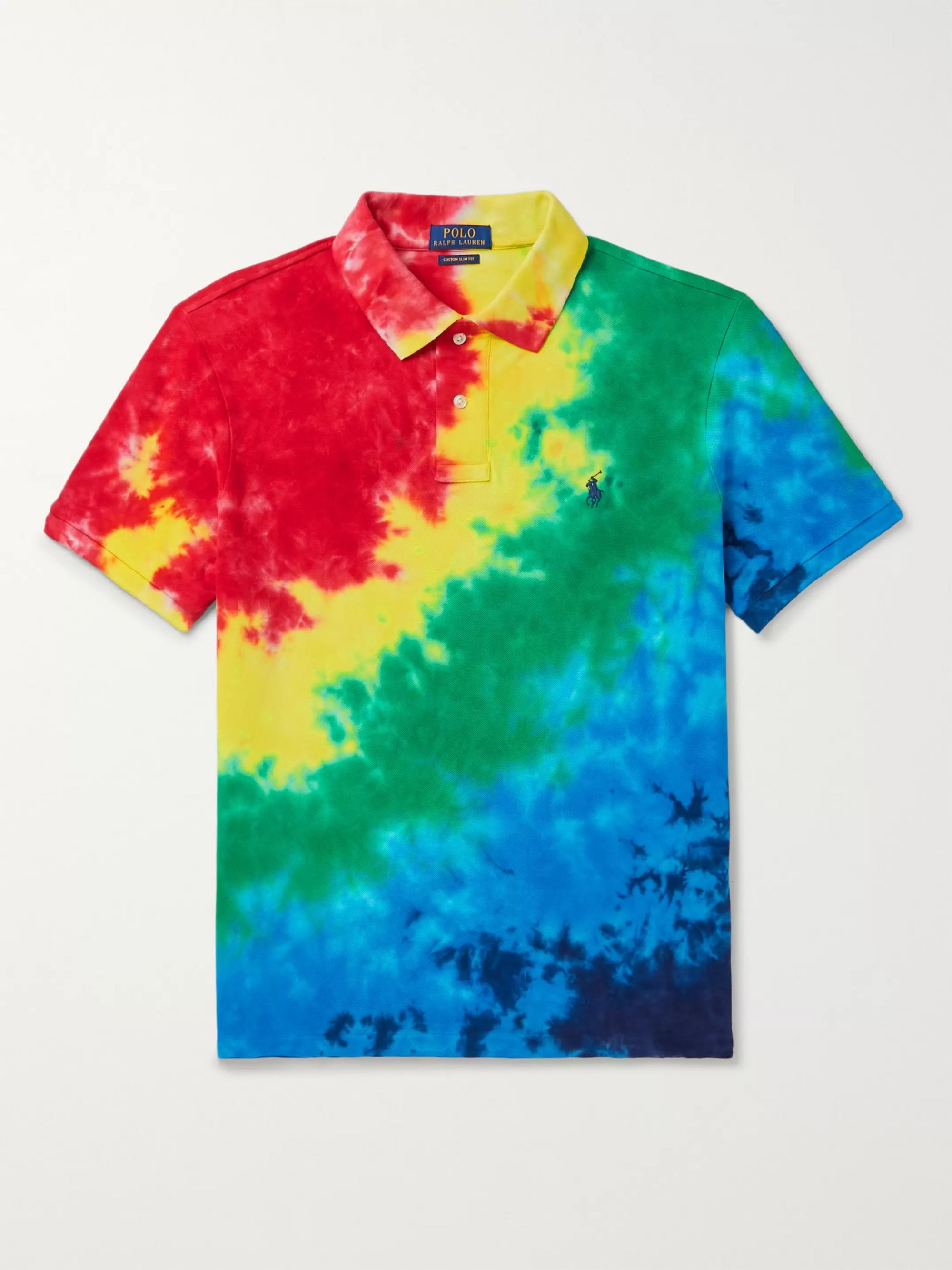 Polo Ralph Lauren Tie-Dyed Cotton-Piqué Polo Shirt