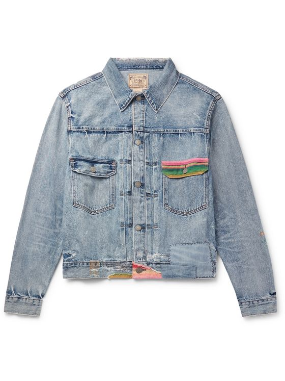POLO RALPH LAUREN Slim-Fit Distressed Denim Trucker Jacket