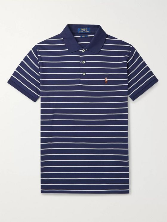 POLO RALPH LAUREN Striped Pima Cotton-Jersey Polo Shirt