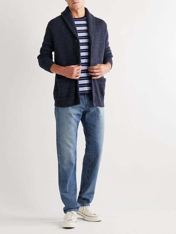 Polo Ralph Lauren Shawl-Collar Mélange Cotton Cardigan