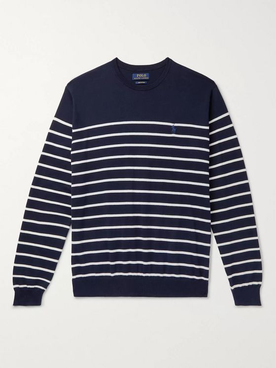 Polo Ralph Lauren Striped Pima Cotton Sweater