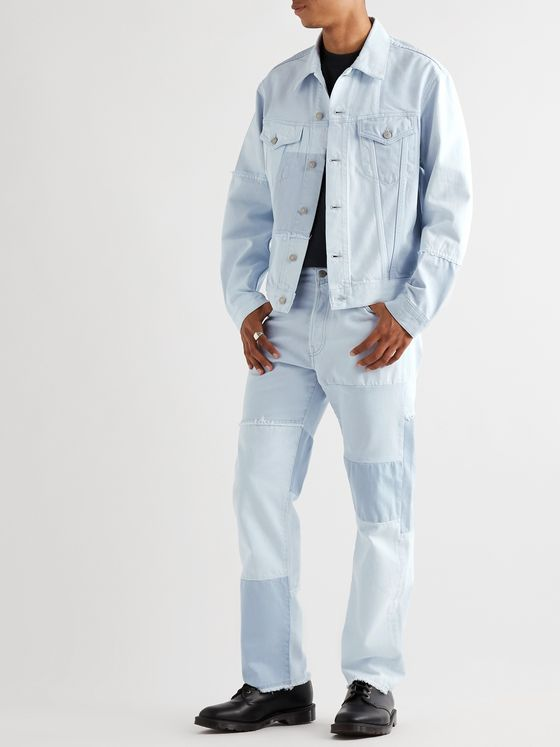 Acne Studios Frayed Panelled Denim Jacket