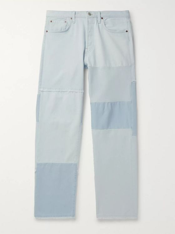 Acne Studios Frayed Panelled Denim Jeans