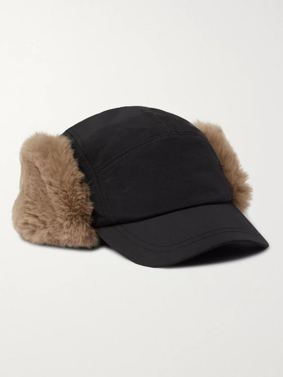 Paul Smith Faux Fur and Shell Trapper Hat