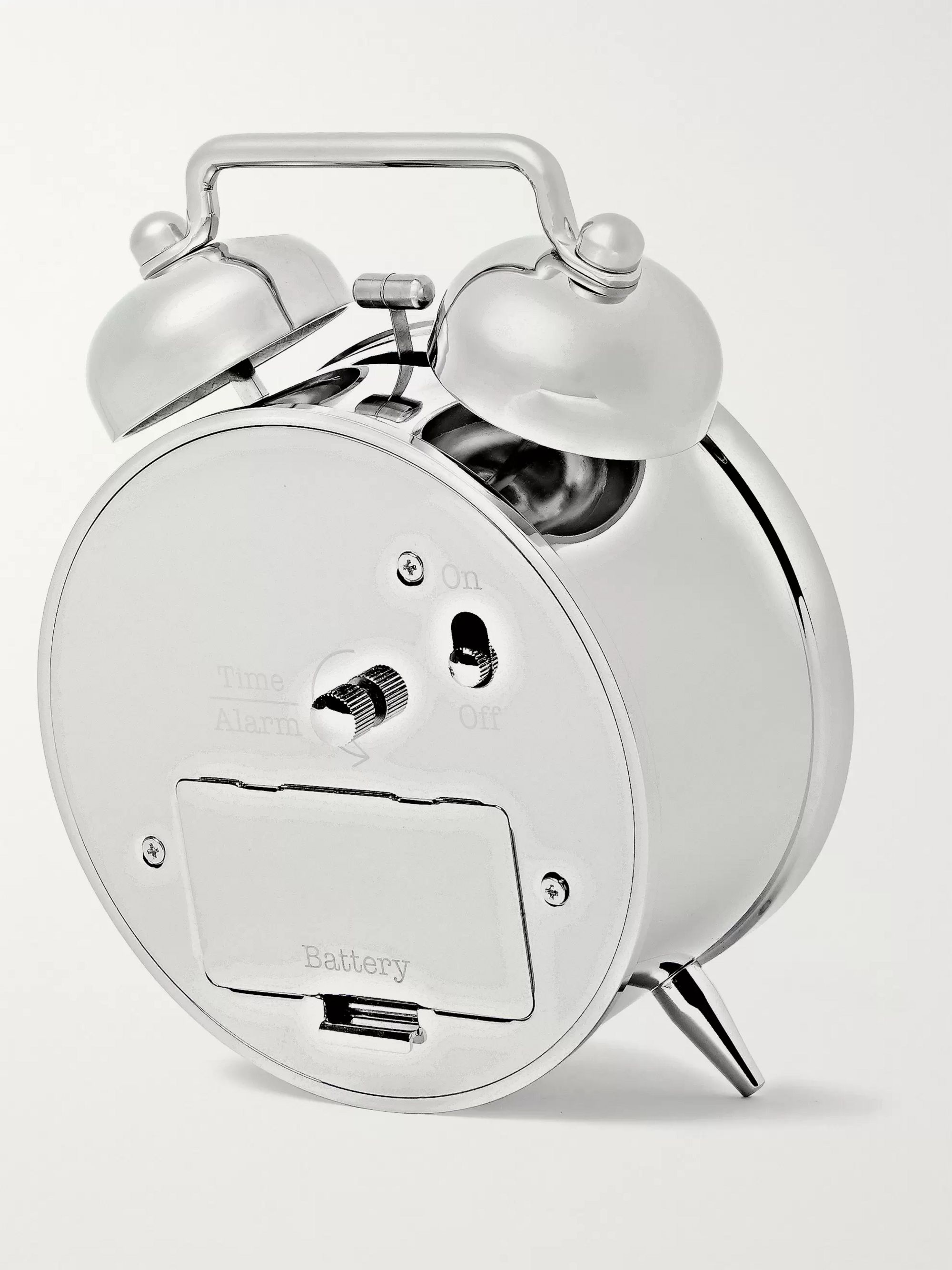 Tiffany & Co. Everyday Objects Nickel Twin-Bell Alarm Clock