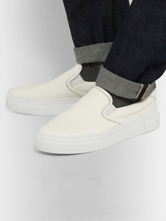 Diemme Garda Full-Grain Leather Slip-On Sneakers