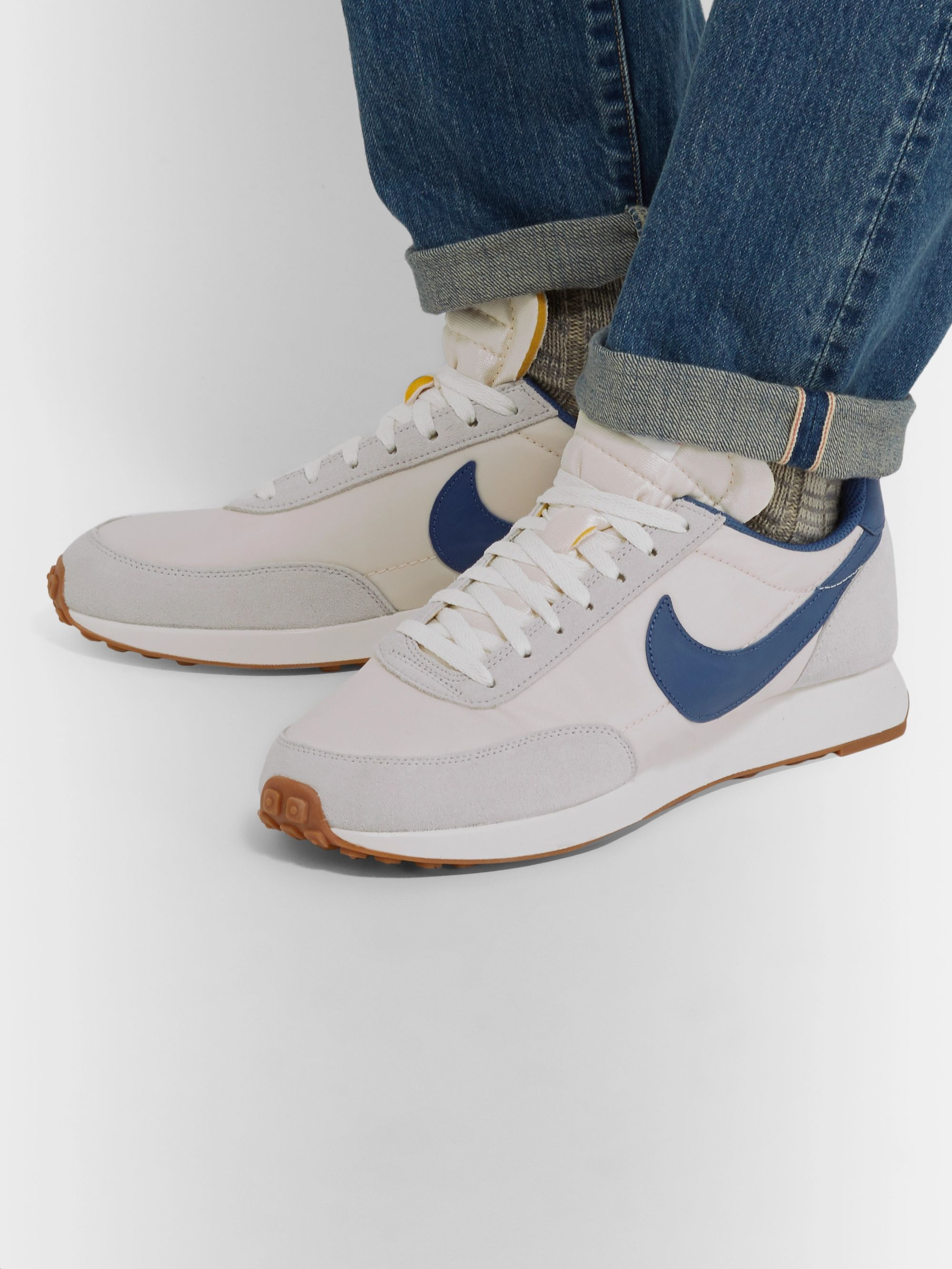 Air Tailwind 79 Shell, Suede and Leather Sneakers