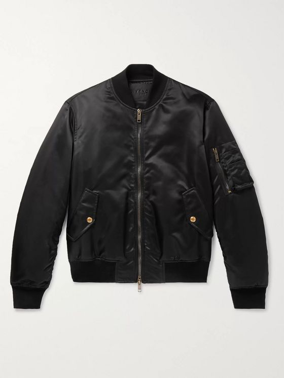 Givenchy Padded Satin Bomber Jacket