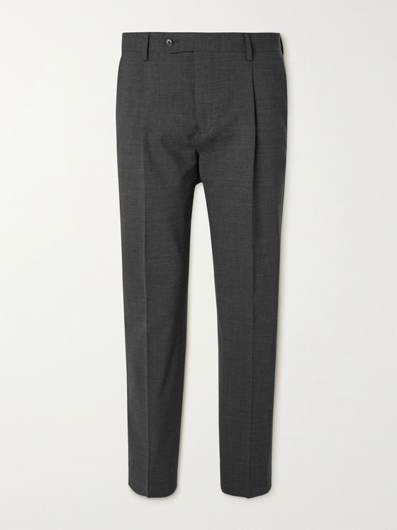 MR P. Tapered Pleated Stretch-Wool Golf Trousers