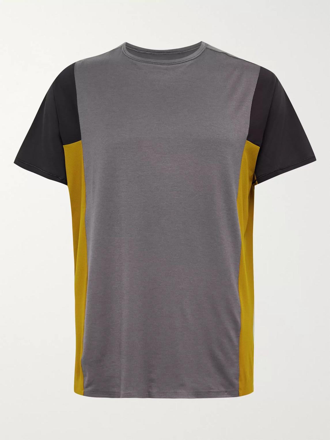 lululemon - robert geller take the moment colour-block mesh t-shirt - men - purple