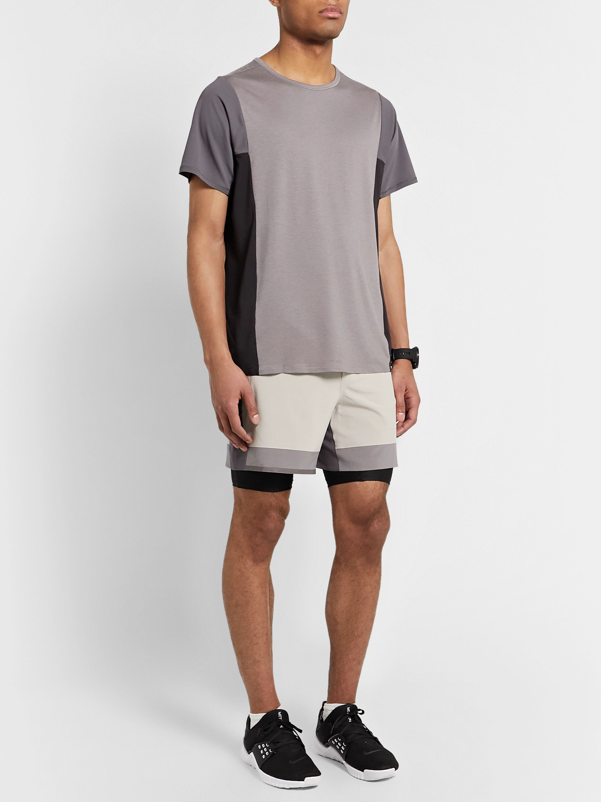 Lululemon + Robert Geller Take the Moment Colour-Block Mesh T-Shirt