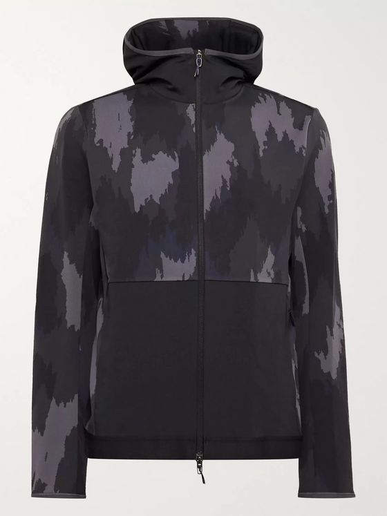 Lululemon + Robert Geller Take the Moment Printed Full-On Luon Zip-Up Hoodie