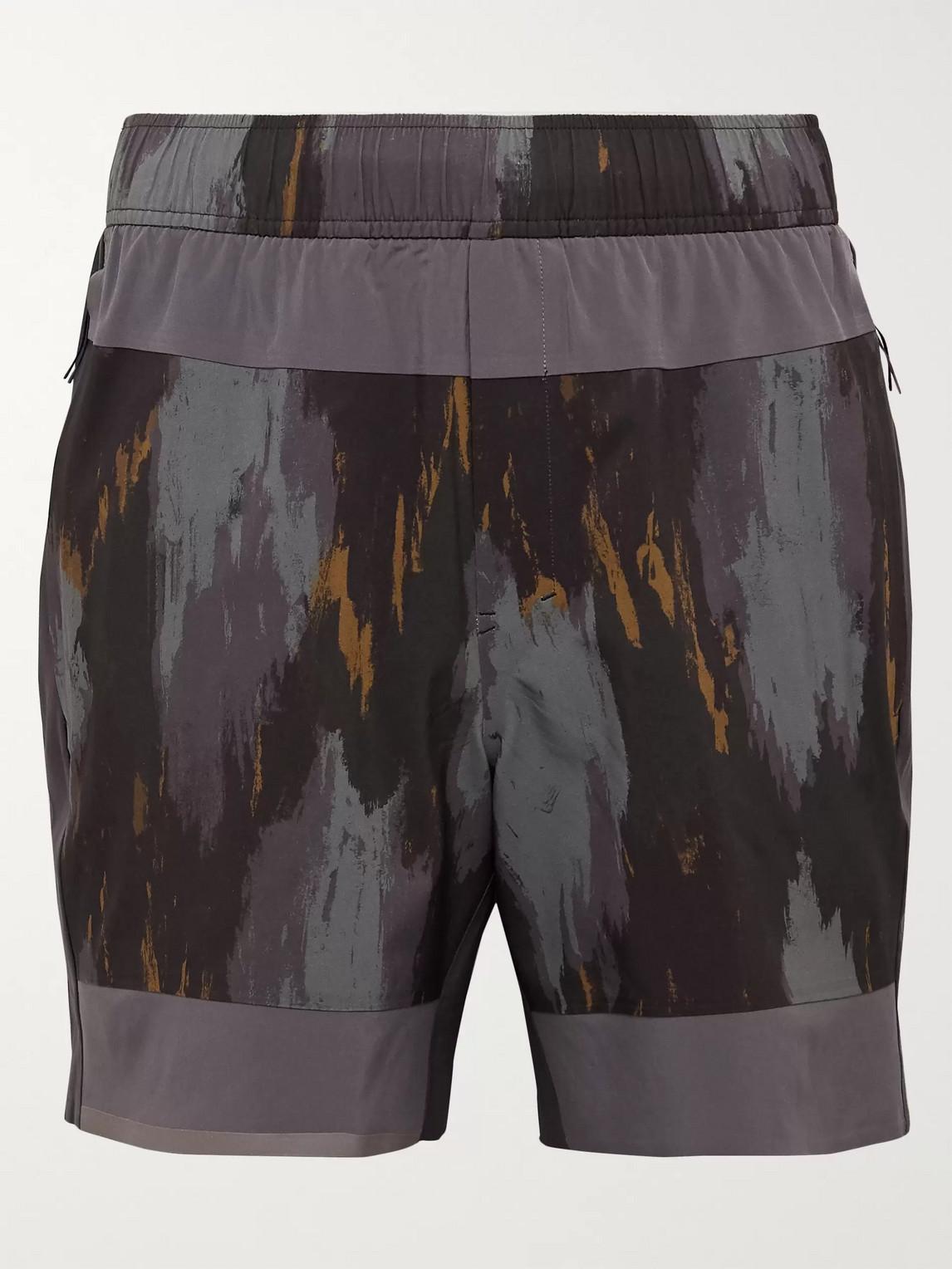 lululemon - robert geller take the moment swift shorts - men - gray