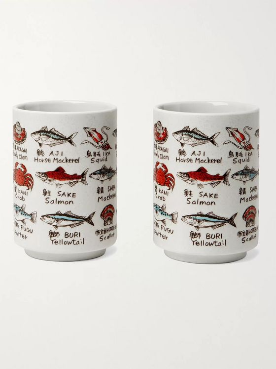 BY JAPAN + Beams Set of Two Printed Ceramic Cups
