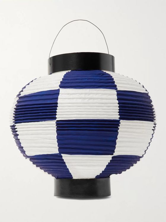 BY JAPAN + Beams Japan + Akimura Taiheido Checked Paper Lantern