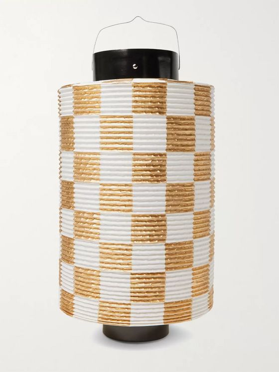 BY JAPAN + Beams Japan Checked Paper Lantern