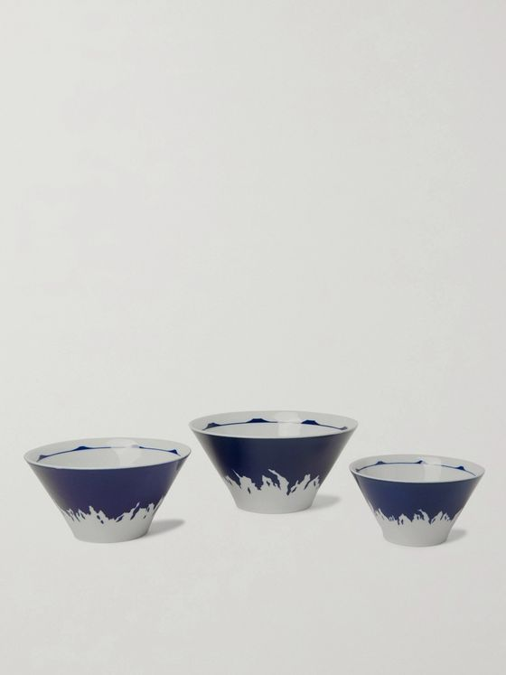 BY JAPAN + Beams Set of Three Printed Ceramic Nesting Bowls