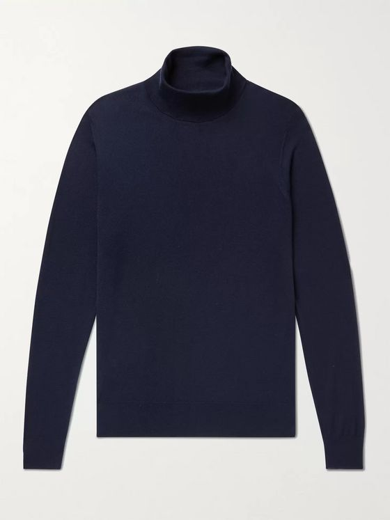 WILLIAM LOCKIE Slim-Fit Cashmere Rollneck Sweater