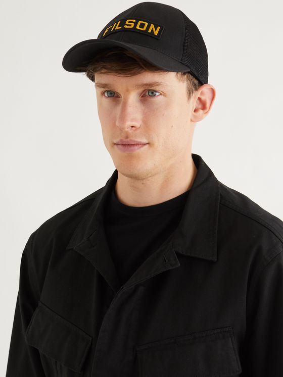FILSON Logo-Appliquéd Mesh-Panelled Cotton-Twill Baseball Cap