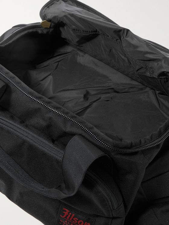 FILSON Leather-Trimmed Nylon Duffle Bag