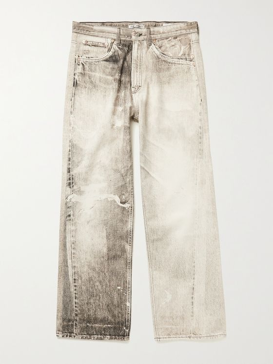OUR LEGACY Third Cut Printed Denim Jeans