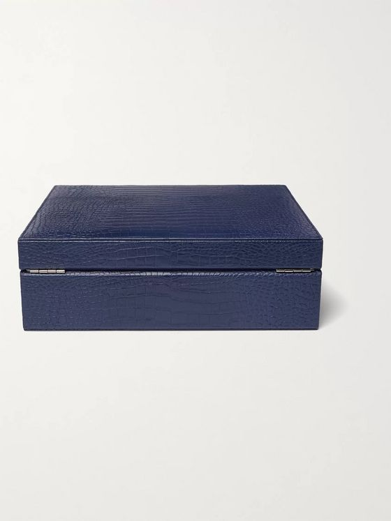 RAPPORT LONDON Croc-Effect Leather Watch Box